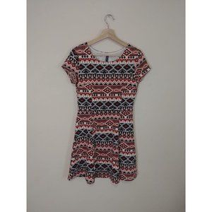 H&M Short Sleeved Aztec Mini Dress